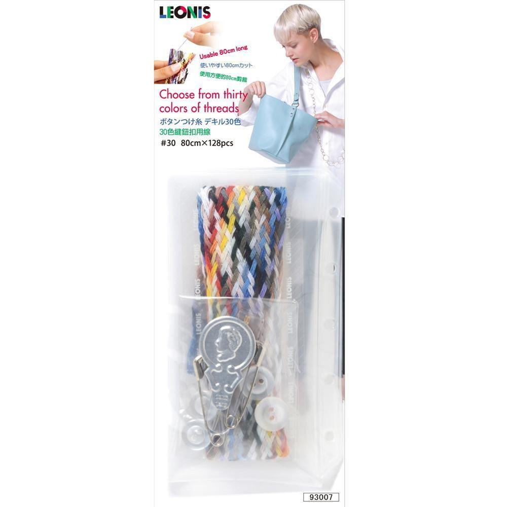 家用30色付紐扣針線包